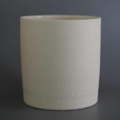 Helice Vase Cylinder handcrafted white Flower Vase